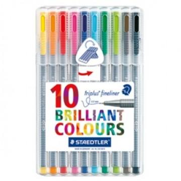 STAEDTLER Triplus Schrijfstift 10 kleuren
