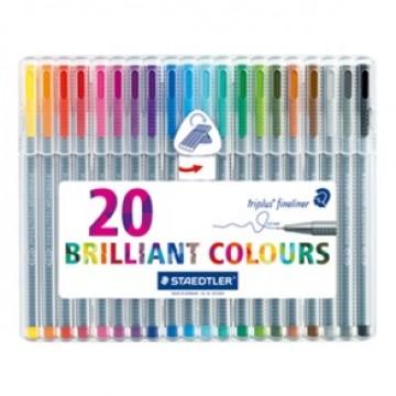 STAEDTLER Triplus Schrijfstift 20 kleuren