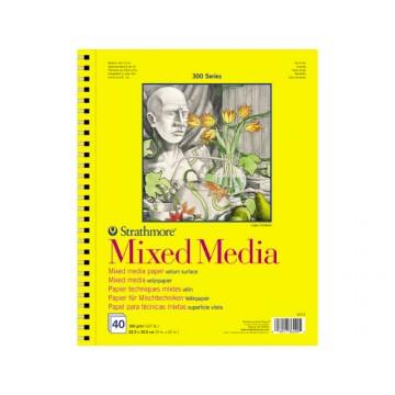 STRATHMORE Papier Mixed Media 23x30cm 190gr 15vel