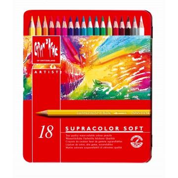 CARAN D'ACHE Supracolor Soft doos metaal 18st ass.