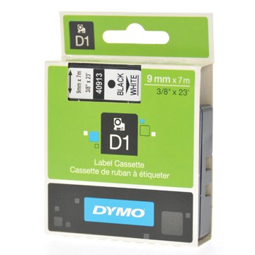 DYMO Tape 9mm x 7m Zwart op Wit