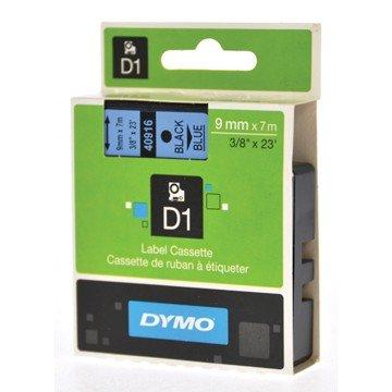 DYMO D1 Tape 9mm x 7m Zwart/Blauw