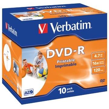 VERBATIM 10  DVD-R Printbaar