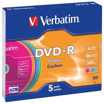 VERBATIM 5 DVD-R Slim-case