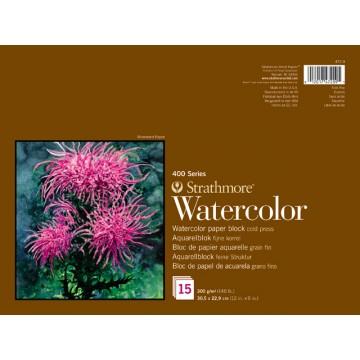 STRATHMORE Aquarelboek 300gr 22,9x30,5cm 15vel