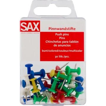 SAX Push Pins 200st 6 kleuren assorti