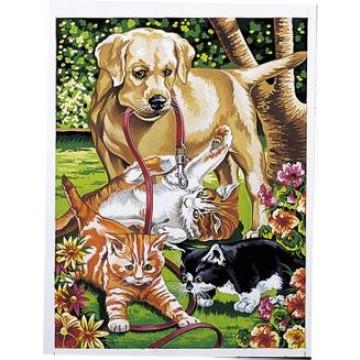 """REEVES Schilderen op nummer """"Hond & Poesjes"""""""