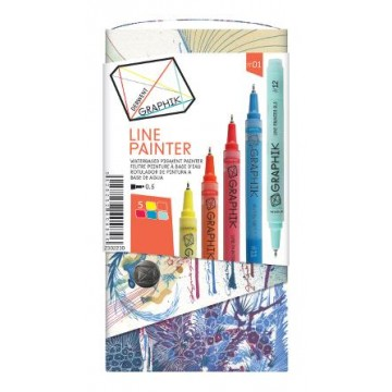 DERWENT Graphik 5 Linepainters 0,5mm Set nr1