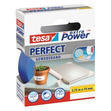 TESA Textieltape 2,75m x 19mm Blauw