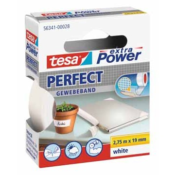 TESA Textieltape 2,75m x 19mm Wit