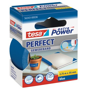 TESA Textielband 2,75m x 38mm Blauw