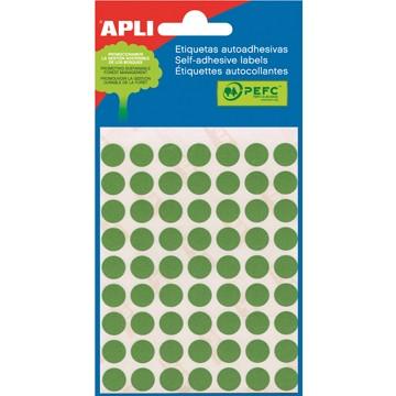 APLI Etiketten 10mm Groen 5vel