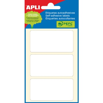 APLI witte etiketten ft 34 x 67 mm