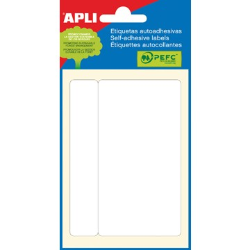 APLI witte etiketten ft 53 x 100 mm
