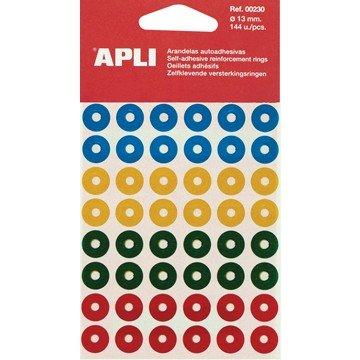 APLI versterkingsringen geassorteerde kleuren