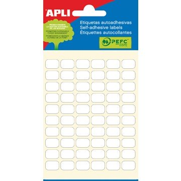 APLI witte etiketten ft 8 x 12 mm
