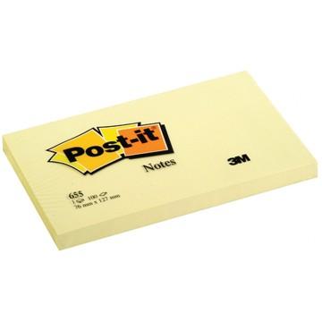 POST-IT Memoblok 76x127mm Geel