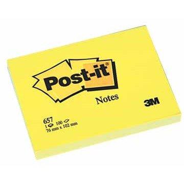 POST-IT Memoblok 76x102mm Geel
