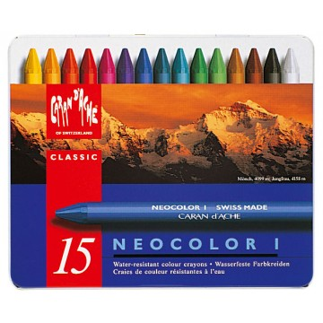 CARAN D'ACHE Neocolor I Doos Metaal 15st ass.