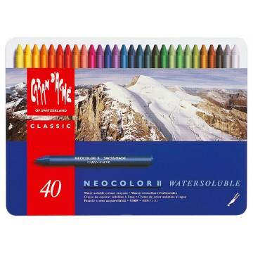 CARAN D'ACHE Neocolor II doos metaal 40st
