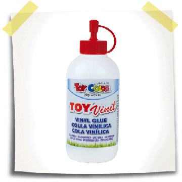 TOY COLOR Vinyllijm 100ml Wit
