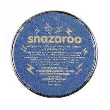 SNAZAROO Kinderschmink Potje 18ml Metalic Blauw