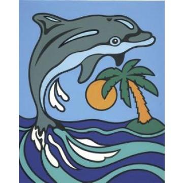 """REEVES Schilderen op nummer """"Dolfijn"""" 11x18cm"""