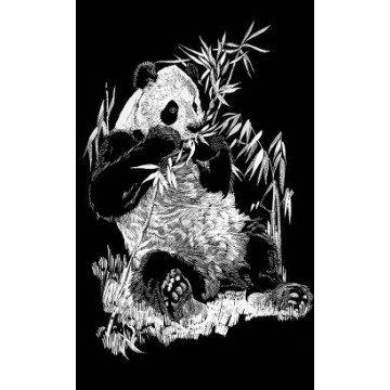 "REEVES Schraapkarton ""Panda"" 11x18cm"