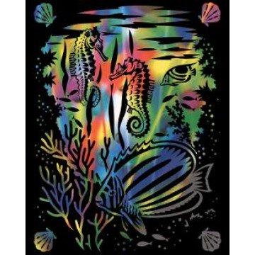 "REEVES Schraapkarton 20x25cm Rainbow ""Onderwater"""