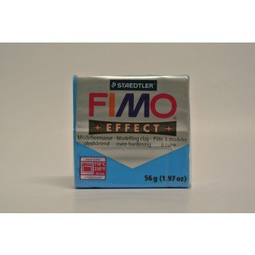 FIMO Effect Boetseerklei 57gr  Blauw Transparant
