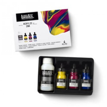 LIQUITEX Pouring Medium Set met 3 Primaire Kleuren