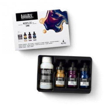 LIQUITEX Pouring Medium Set met 3 Donkere Kleuren