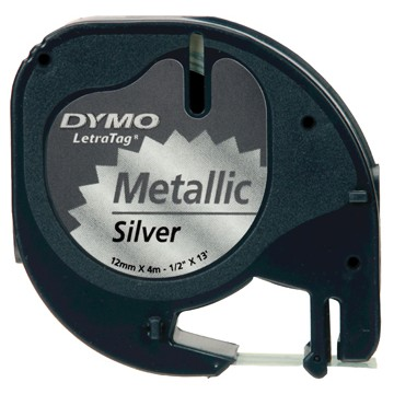 DYMO Letra Tag tapes tape metallic zilver