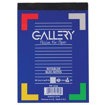 GALLERY Notablok 100vel A6 Geruit