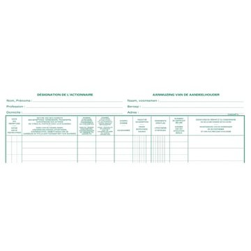 PIQUUR Aandeelhoudersregister 2-Talig