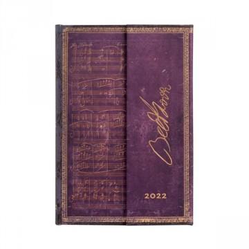 PAPERBLANKS Agenda 9,5x14cm 2022 Beethoven