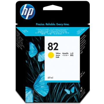 HP Inkcartidge 82  Inhoud: 69ml Yellow