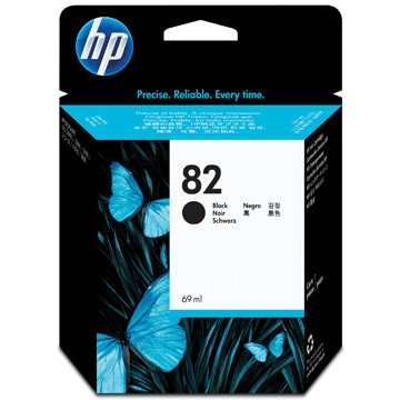 HP Inkcartridge nr82 Zwart 69ml