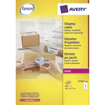 AVERY Etiketten 99,1 x 67,7mm  100vel A4