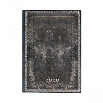 PAPERBLANKS Agenda Midi 2020 Midnight Steel