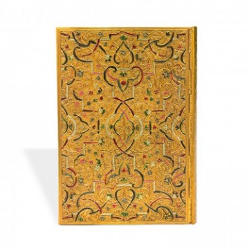 "PAPERBLANKS 13x18cm ""Gold Inlay"" Adresboek"