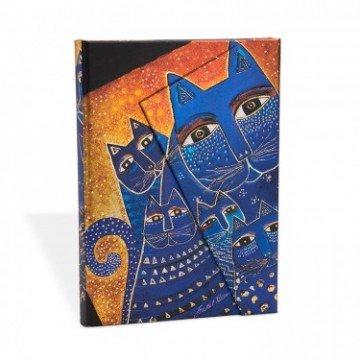 """PAPERBLANKS Adresboek 9x14cm """"Katten"""" Gelijnd"""
