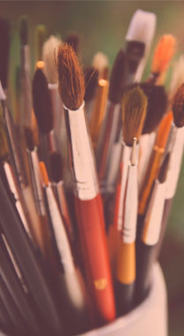 Schildersmaterialen bij 't Atelier